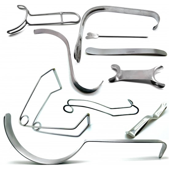 Dental Retractors Set of 10
